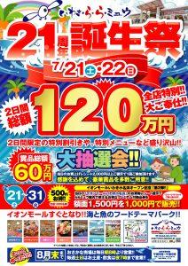 21周年誕生祭イベントポスター